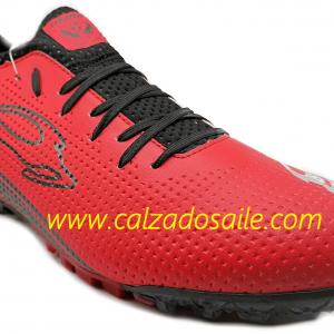 Tenis futbol rápido Mca Unión suela microtachones del 25 al 28 rojo