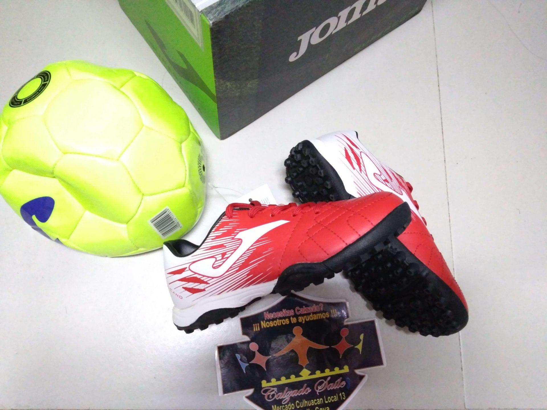 Tenis Fútbol rápido y balón Joma, choclo suela hule agujetas