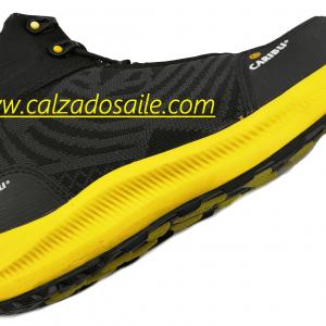 Tenis Bota Casco poliamida Caribu ligero, fresco y durable amarillo/gris