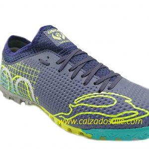 Tenis futbol rápido Mca Unión suela microtachones del 23 al 24.5 azul