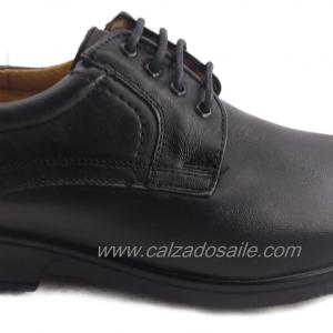 Zapato pie diabético marca Kompresor liso corte bovino forro cerdo 25 al 28