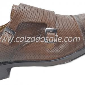 Zapato Viakento 2 hebillas D939 para la oficina, desde el 25.5 al 27.5,